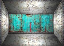 Stahlraum Stockbild