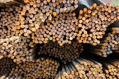 Stahlrebar gestapelt Stockfoto