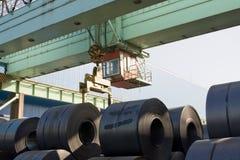 Stahlring-Kran Stockfoto
