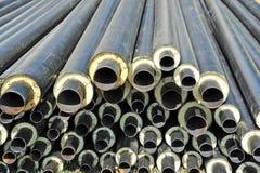 Stahlrohr mit Wärmedämmung Lizenzfreie Stockbilder