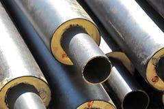 Stahlrohr mit Wärmedämmung Lizenzfreie Stockfotos