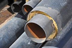 Stahlrohr mit Wärmedämmung Stockbild