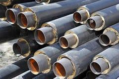 Stahlrohr mit Wärmedämmung Lizenzfreie Stockfotografie