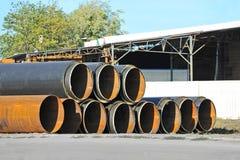 Stahlrohr mit Wärmedämmung Lizenzfreies Stockbild