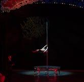 Stahlrohr Tanz-akrobatische showBaixi Traum-Nacht Lizenzfreie Stockbilder