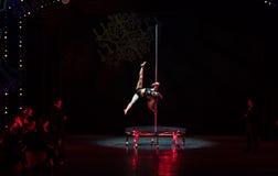 Stahlrohr Tanz-akrobatische showBaixi Traum-Nacht Lizenzfreies Stockbild