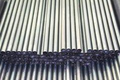 Stahlrohre Stockbild