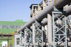 Stahlrohre industriell stockfoto