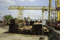 Stahlrohre verschiedene Abschnitte lizenzfreie stockbilder