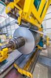 Stahlschneider innerhalb einer Spulenfabrik Lizenzfreies Stockbild