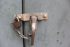 Stahlschrankverschlüsse Lizenzfreie Stockbilder