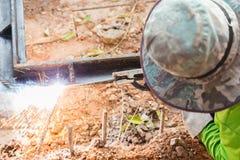 Stahlschweißen lizenzfreies stockbild