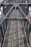 Stahlserien-Brücke Stockfotografie