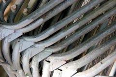 Stahlsperren und Metallbaumaterialien Stockbild
