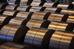 Stahlspulen Stockbilder