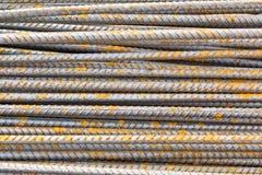 Stahlstab-Hintergrundbeschaffenheit Lizenzfreies Stockfoto