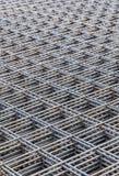 Stahlstangen gestapelt für Bau Stockfoto