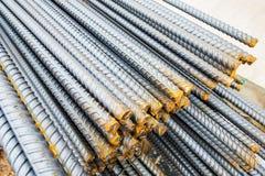 Stahlstangen-Nahaufnahmehintergrund Stockfotos