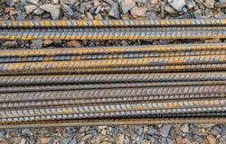 Stahlstangen oder Stangen Stockfoto