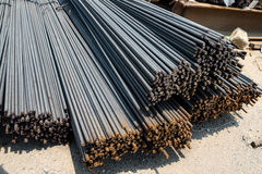 Stahlstangen oder Stangen lizenzfreies stockbild