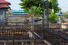 Stahlstangenverstärkung Stockfoto
