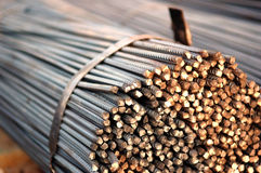 Stahlstäbe Stockbild
