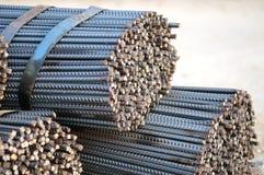 Stahlstäbe Stockfoto
