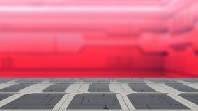 Stahltabelle auf einem Raumschiff, einem Sciencefiction Hintergrund - Dose benutzt für Anzeige oder einer Montage Ihre Produkte 3 vektor abbildung