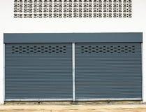Stahlwalzenfensterladen Lizenzfreies Stockfoto