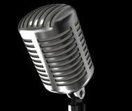 Stahlweinlesemikrofon Stockfotos