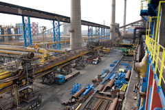 Stahlwerk Lizenzfreies Stockfoto