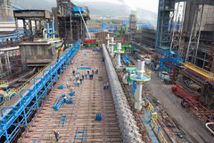 Stahlwerk Lizenzfreie Stockfotografie