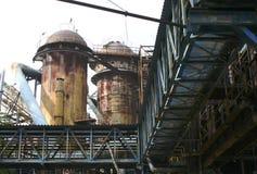 Stahlwerk Stockfotos