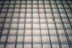 Stahlwerk für Verstärkung des konkreten Bodens Stockfoto