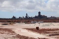 Stahlwerk Saldanha, Westkap, Südafrika Lizenzfreie Stockfotos