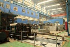 Stahlwerkstatt Stockfotos