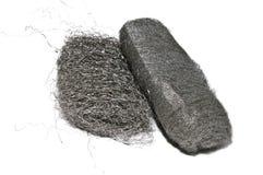 Stahlwolle-Auflagen Stockfoto