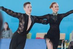 Stahovich Timofey and Grinchik Anna Perform Juvenile-2 Latin-American Program Royalty Free Stock Images