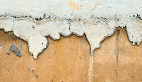 Stain on concete wall Royalty Free Stock Image