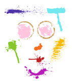 Stain face. Vector illustration composed of stains Royalty Free Stock Images