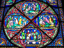 Stain Glass. Windows inside a Cathedral Royalty Free Stock Photos