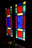 Stain glass door Stock Photo