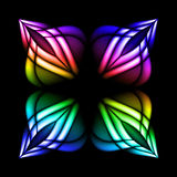 Stain glass flower. Abstract stain glass flower pattern. Vector illustration #2 Stock Photo