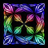 Stain glass flower. Abstract stain glass flower pattern. Vector illustration #5 Royalty Free Stock Photos