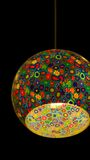 Stain glass lamp Royalty Free Stock Image
