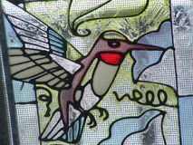 Stain glass. This is a picture of my stain glass humming bird royalty free stock photos
