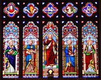 Stain Glass Window. S at Christ Church , in Historic St. Michael's Maryland stock images
