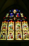 Stain glass window. A stain glass window in a Gothic church Stock Image