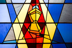 Stain glass window. Of the holy grail Stock Images