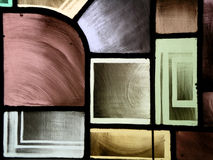 Stain Glass Window I. Details of a stain-glass window. Great background stock photo